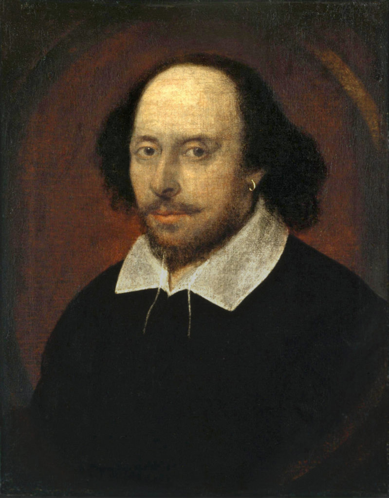 The Chandos portrait  is thought to be one of the only portraits of Shakespeare painted from life.